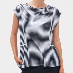 Banana Republic stripe ladder trim top
